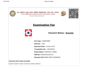 Examination fee payment 2 times
