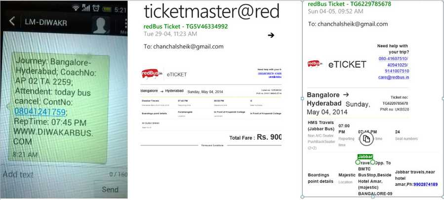 redbusin Complaints – Redbus Ticket Print
