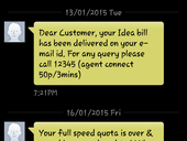 Idea Cellular - My Internet service (3G-750MB for 1 Month) which is 3G but my speed limited to 64kbps from 16th January 2015