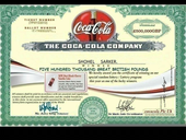 Winner certificate check out my coca-cola Prize money