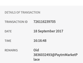 Amount was deducted but order failed refund is not given