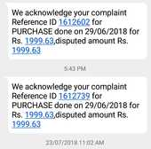 HDFC bank and reliance store Complaints
