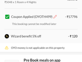 OYOROOMS [Fraud & Cheating] Customer - After paying full amount as per OYO Mob App