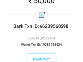 Didn't receive the money to the bank account from Paytm wallet