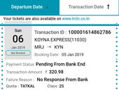 Refund of money irctc