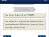 Have not recieved any confirmation regarding registration.