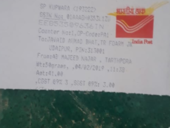 Late forwarding of letter ,it took the 6 days to push it 70 kms ..ie from kupwara to Srinagar
